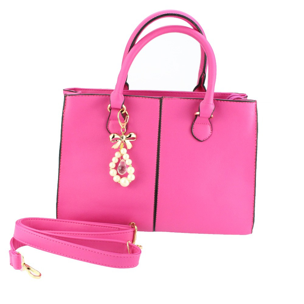 Get Quotations · bolsa feminina 2015 Fashion Women Messenger Bags Pink PVC  Women Leather Handbags with Beading Canvas Inside 7e71057f5a55a