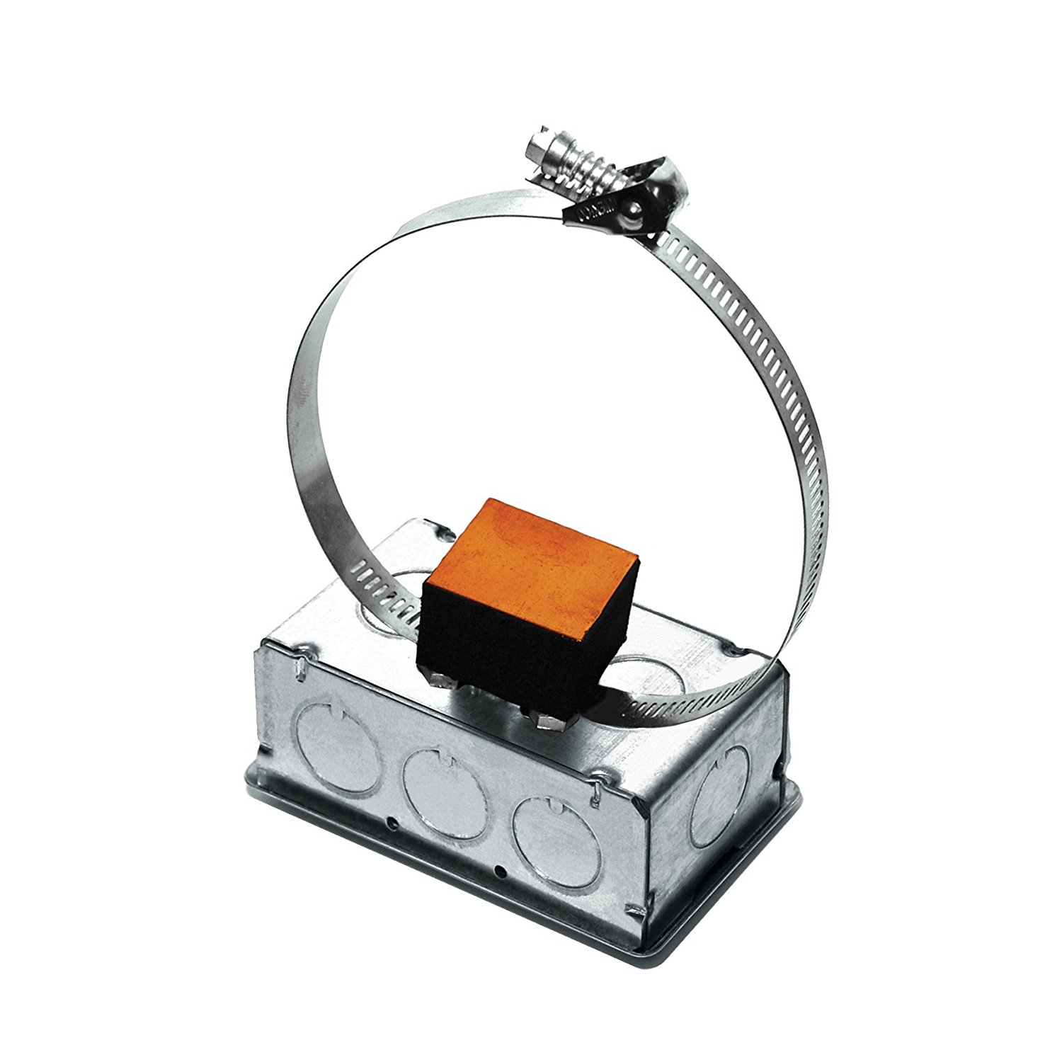 A/20K-S-GD | ACI | 20K ohm | Metal Strap On Pipe Tube Temperature Sensor | Galvanized Housing Enclosure Box |