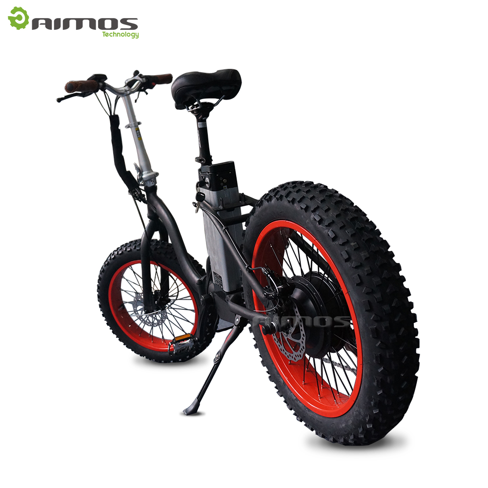 Aimos 2017 hot selling fat electric bike mountain folding e bicycle with pedal assistant