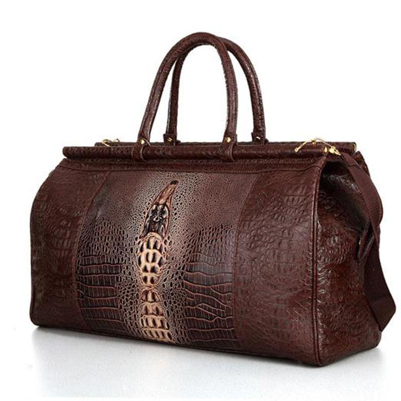 Buy Black Tote Crocodile Pattern Bag,Crocodile