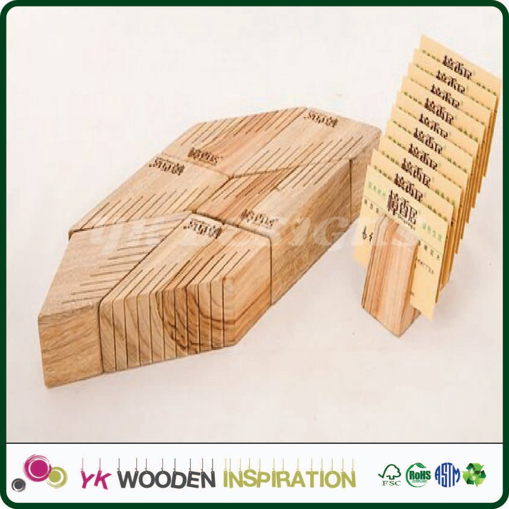 Wooden metro card holder for Promotional Advertising