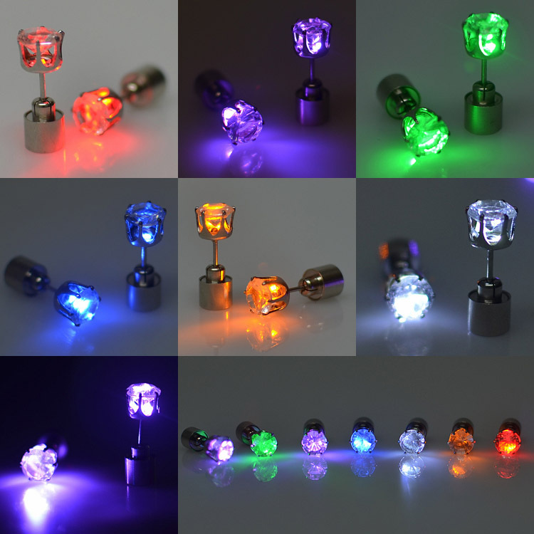 Led Ear Ring Glowing Earrings Colorful Made In China
