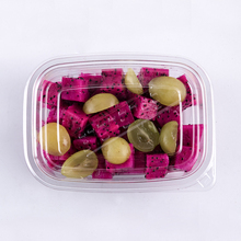 Wegwerp transparante <span class=keywords><strong>plastic</strong></span> <span class=keywords><strong>dessert</strong></span> container fruit cut container met deksel