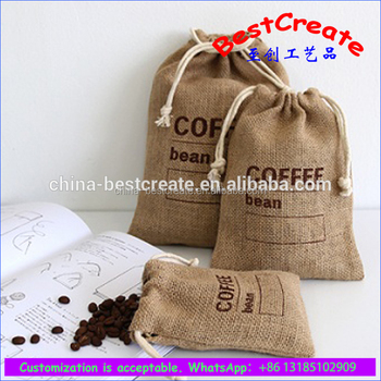 Burlap Coffee Bag Favors Linen Favor Gift Candy Envelope Style Bags Wedding Size