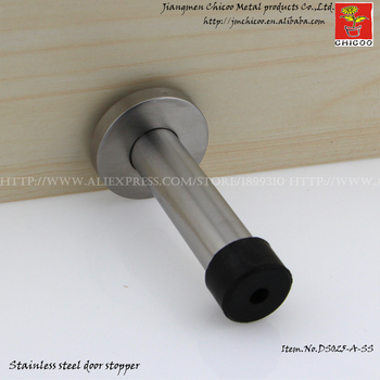 Stainless Steel Wall Mounted Door Stoppers Bathroom Doorstops Security Door  Stop