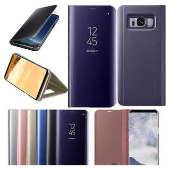 Smart mirror cover phone case for Samsung Galaxy S9 S8 S7 S10 Edge Plus Clear View cover for Samsung Galaxy Note 9 8 5 4 3