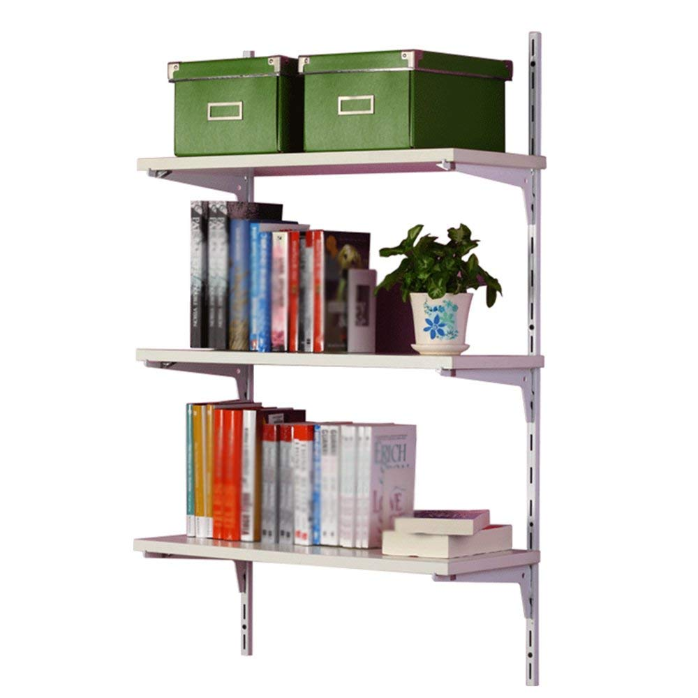 Bookshelf CHUNLAN Wall-mounted Metal Save Space CD DVD Storage Shelf Of Books 60 X 25 X 100 Cm