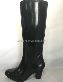 fashion high heel rubber boots  buy high heels women