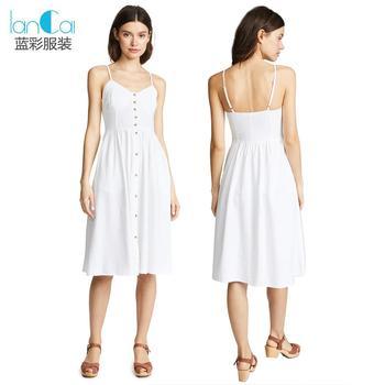 b0ef9912f78 Fashion button up white long linen dress for woman dress summer 2018