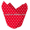 Red/white Polka dots Colored Paper Tulip Cups/ Tulip Baking Cups/ Muffin Wraps