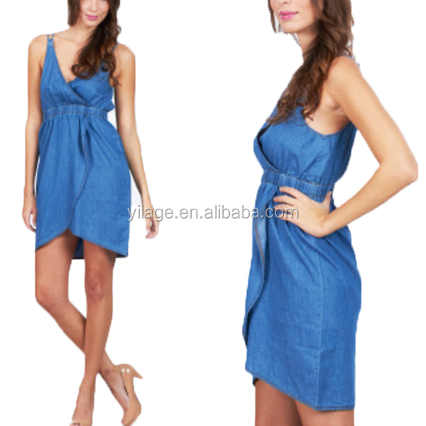 2014 New Style Fashion Lady Casual Jeans Dress L1473