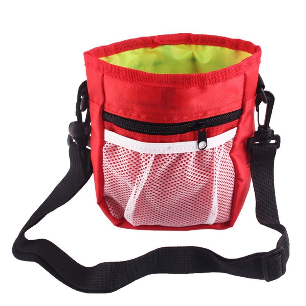 PanDaDa Dog Snack Bag Dog Treat Training Pouch Outdoor Pet Training Bag with Waste Bags Dispenser