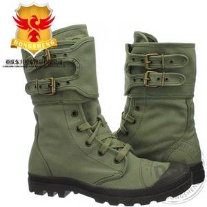 Knee High Sage Green Canvas Military combat Jungle Boot for Africa