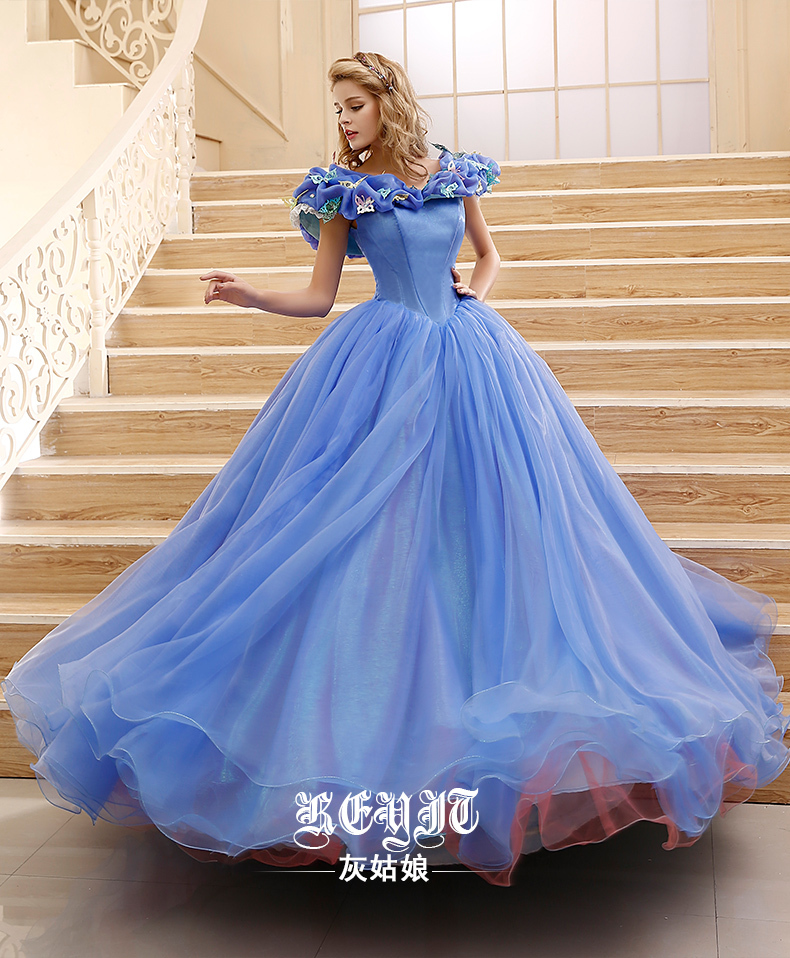 Princess Cinderella Wedding Dress Costume For