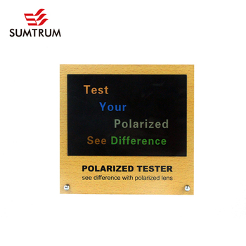 4938c0b9b26 HOT SALE Polarized Test Picture RAINBOW TESTER with MDF display - WORDS