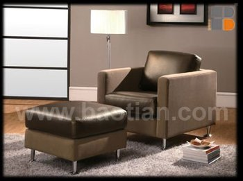 Kenya Style Leather Sofa Set Chair And Ottoman For Living Room Furniture