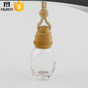 clear glass car vent empty car air freshener bottle for hanging car