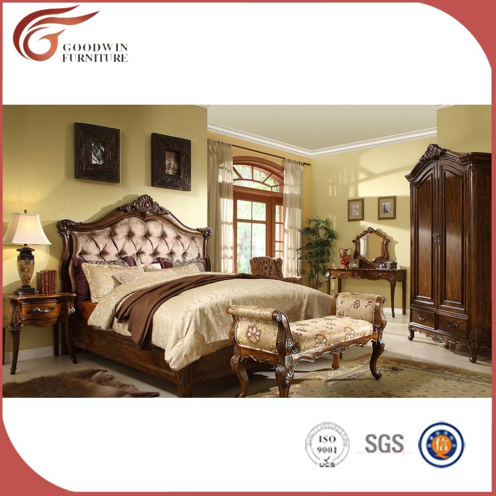 Cama de diseño de muebles de madera, comprar muebles de dormitorio ...