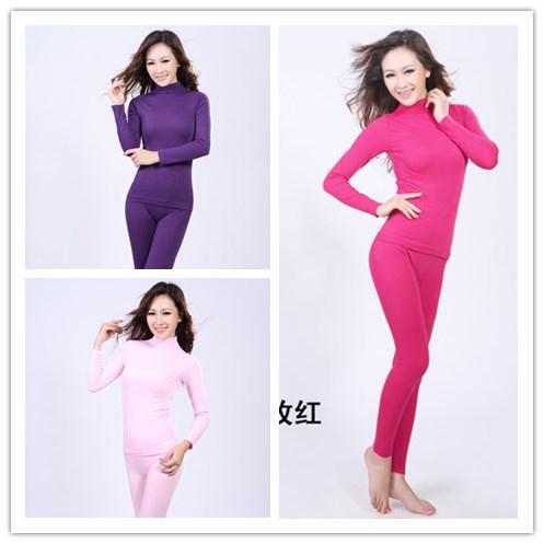 b5ea5fd7e172 Get Quotations · Hot Sale 2015 women's high collar seamless Body underwear  / body sculpting warm cotton underwear suit