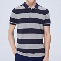 Fashion style stripe men cotton promotion guangzhou polo shirts manufacturer