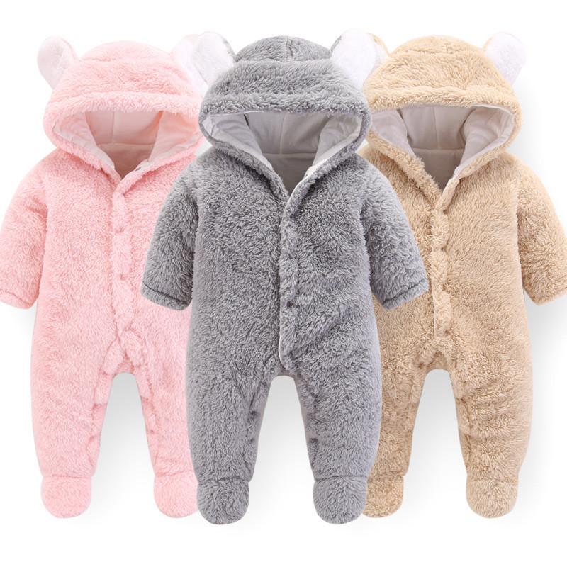 de219173b0be2 Nouveau-né bébé barboteuses hiver bébé filles garçons combinaison vêtements  bébés épais chaud barboteuses vêtements