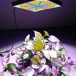 K&A company 45W 2400LM 225-LED Red & Blue & Orange & White Light Indoor Garden Plant Grow Light Hanging Light Silver