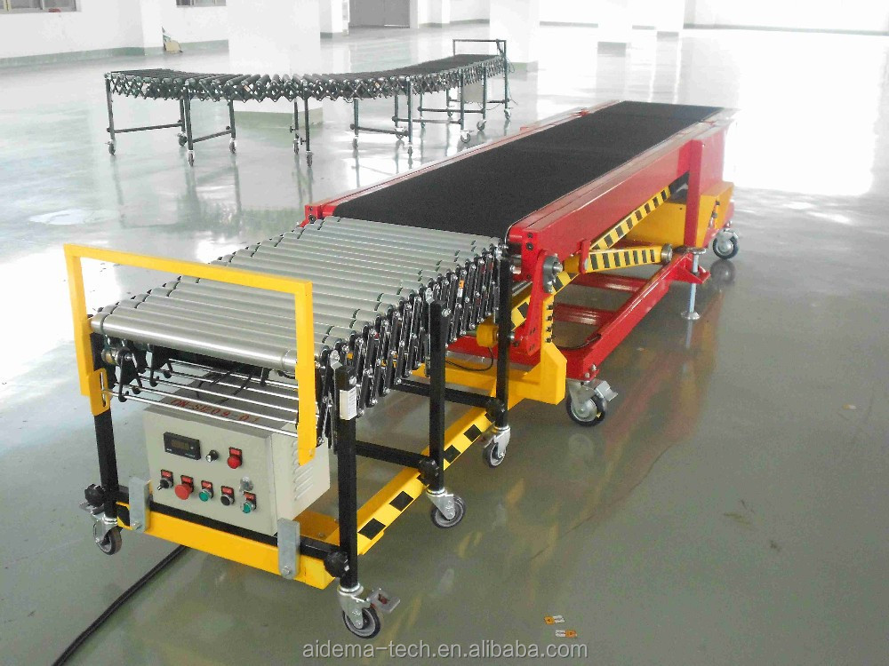 Container loading/unloading belt conveyor