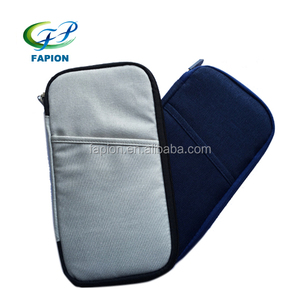 RFID blocking nylon credit card passport travel document organizer case