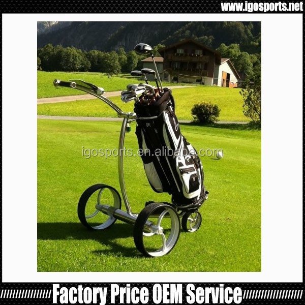 2016 new remote control stainless steel golf trolley