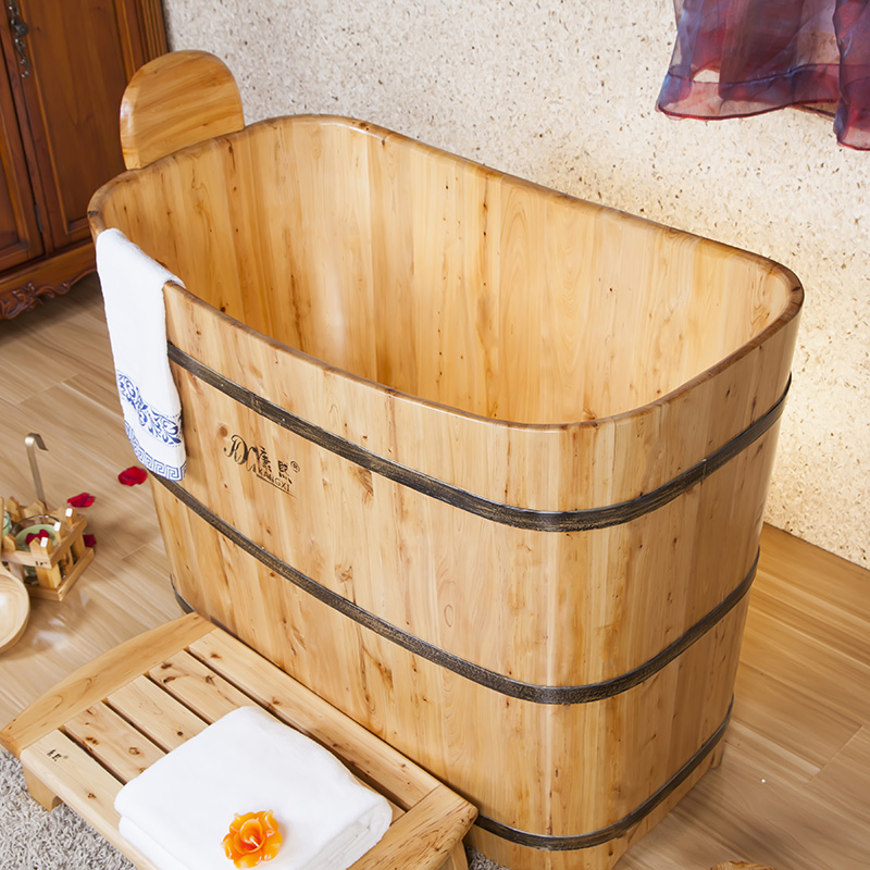 tonneau en bois portable baignoire avec si ge japonais baignoire baignoire bains. Black Bedroom Furniture Sets. Home Design Ideas