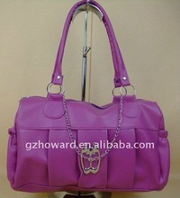 new plum purple color lady bag selling fine type A079 FOB $1.6 from Guangzhou port