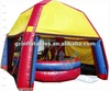 (Qi Ling)Hot funny inflatable crazy bull riding with tent roof