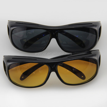 dffb7785f2 As Seen On TV HD Vision Night Sunglasses 2pcs set Night Vision Driving  Glasses