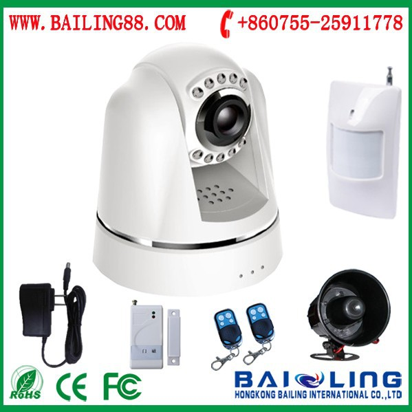 2015 hot sale SMS MMS CALL alarm system support wireless video surveillance 24 hours security alarm system