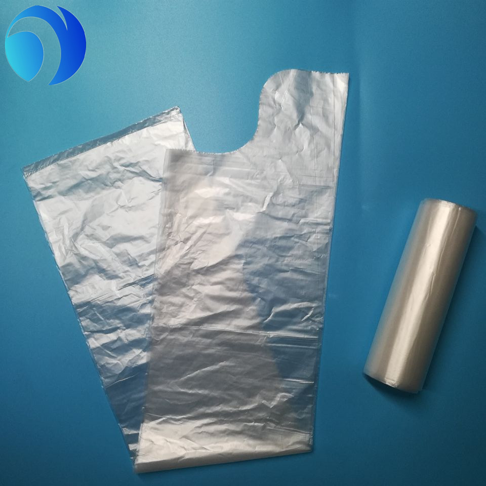 Tie Handle Clear Custom Plastic Garbage Bag on roll