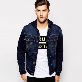 Custom Dark Blue Men Oem Jacket With Hoodies Buy Oem Jacketwholesale Denim Jacket Menmen Jean Jacket Wholesale Product On Alibabacom