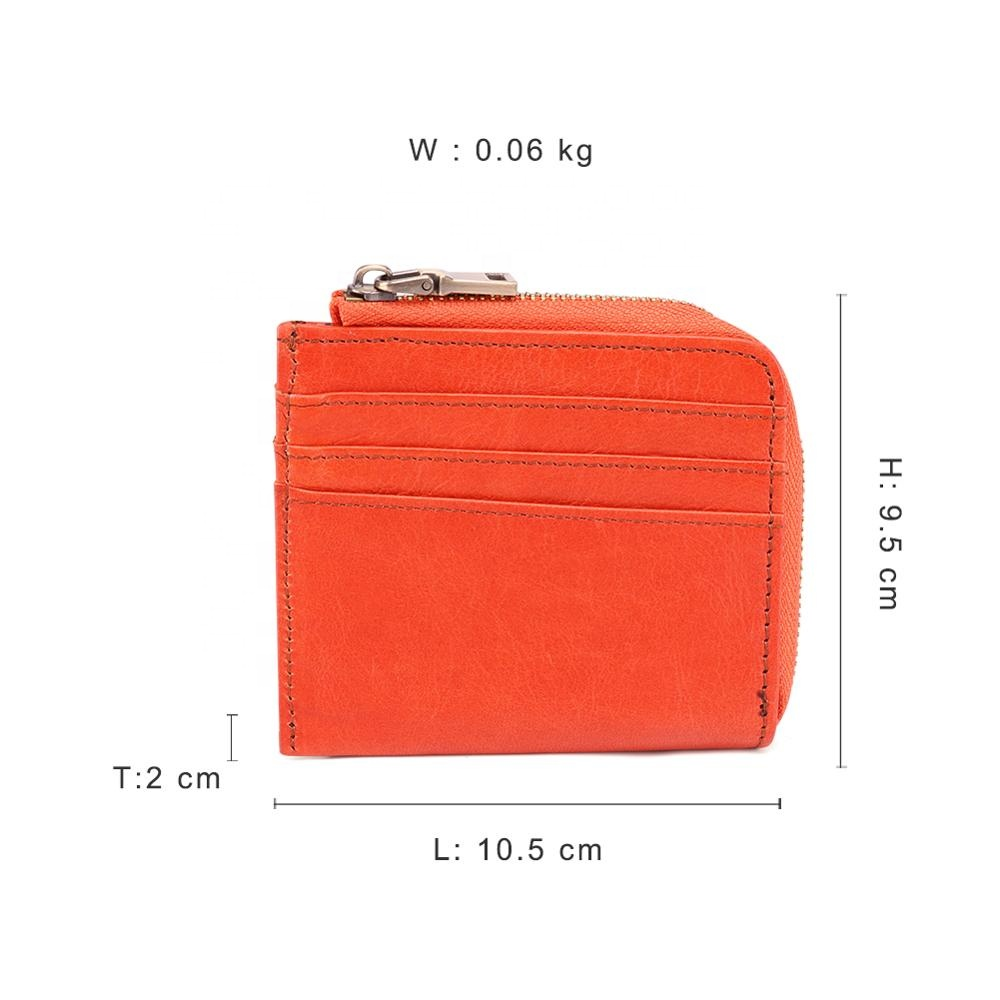 Guangzhou new genuine leather women small coin wallet zipper closed change coin purse for woman
