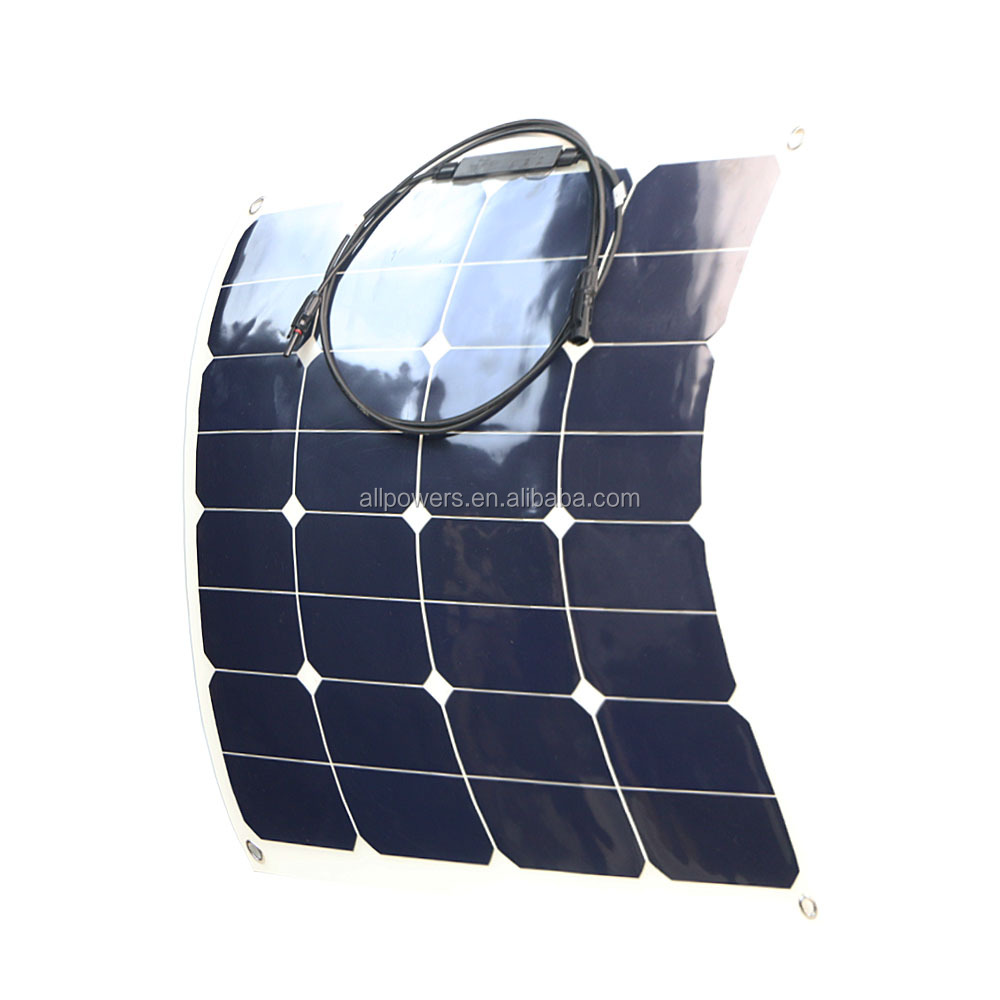 22%-25% High Efficiency 50W Semi Flexible Solar Panel Solar Module with Sunpower Solar Cells