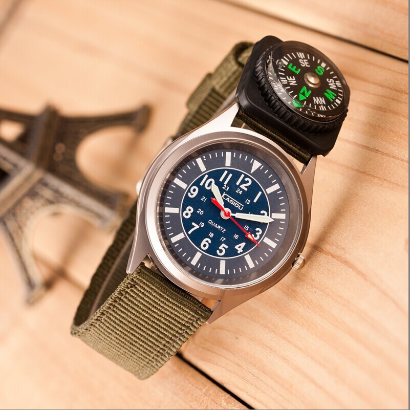 Military wrist Watch with compass, army sport quartz watches manufacturer