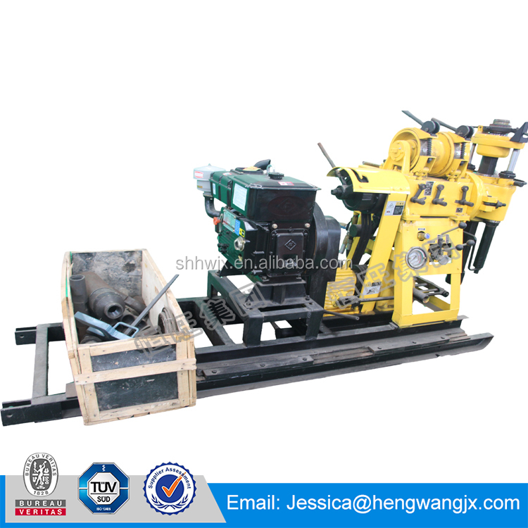 Hengwang Machinery HWS-230 water well drilling machine/diesel 24KN hoist drilling rig for sale