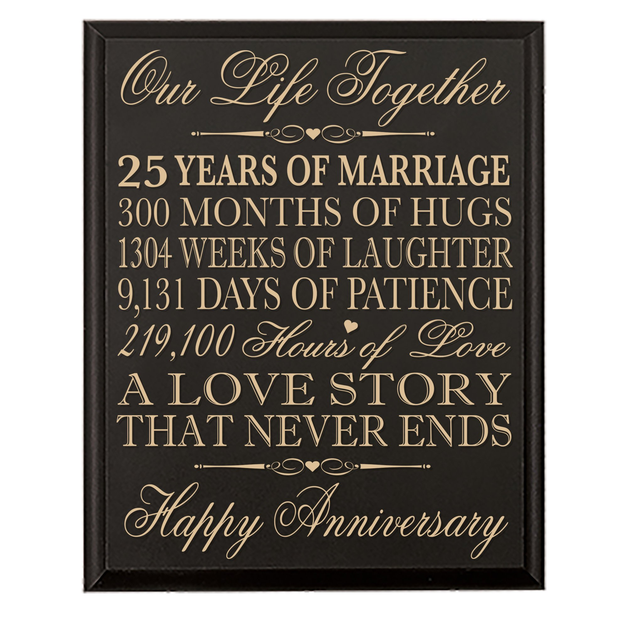 Cheap 25th wedding anniversary card find 25th wedding anniversary get quotations 25th wedding anniversary wall plaque gifts for couple 25th anniversary gifts for her25th filmwisefo