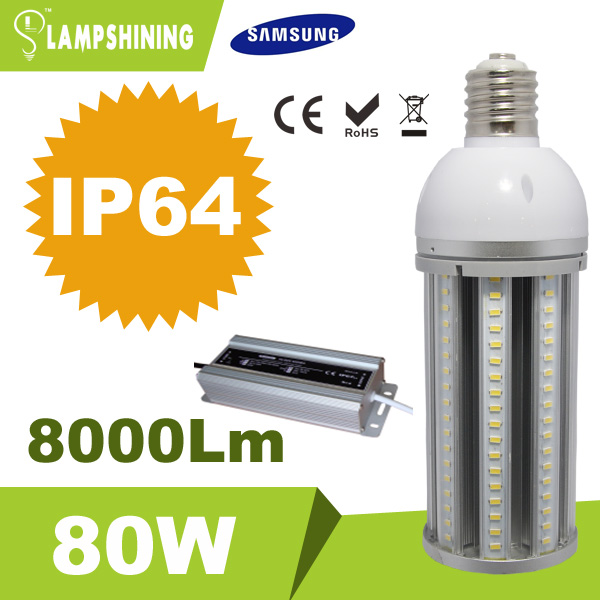 latest construction products energy saving technology 120lm/w high lumens 80w led corn street bulb