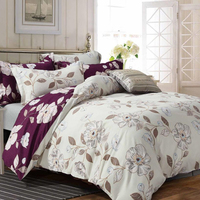 Soft Color Customized Polyester Four Seasons Hotel Velvet Bedding Sets