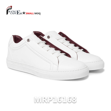 2018 manufacturer custom luxury casual leather blank Man woman white shoes and sneaker