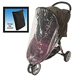 Comfy Baby! Universal Stroller Weather Shield - Fits all Full Size & Jogging Strollers - Black Cover by Comfy Baby