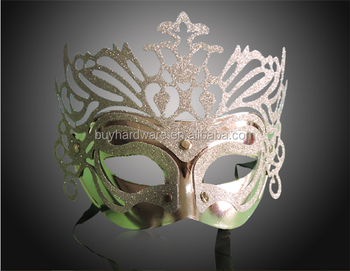Fashional Venetian Style Laser cut metal pretty Masquerade Mask ,Best selling Halloween Metal face mask for party