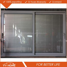 YY Home series german style aluminum heavy lift sliding door with electrical louvers inside