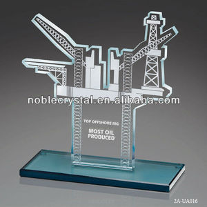 Crystal Sandblasting Oil Derrick Award Business Model Gift