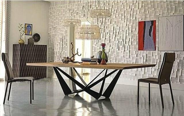 table a manger fer forge et bois. Black Bedroom Furniture Sets. Home Design Ideas