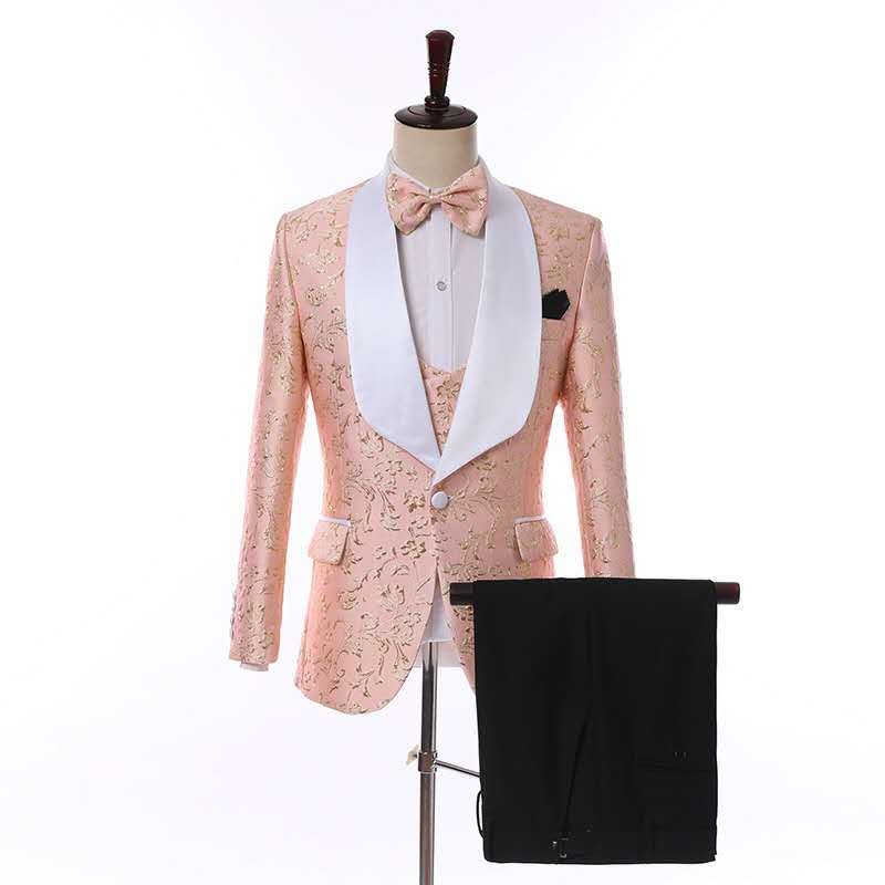 Blazer Business Three Piece Single Breasted Man Suit